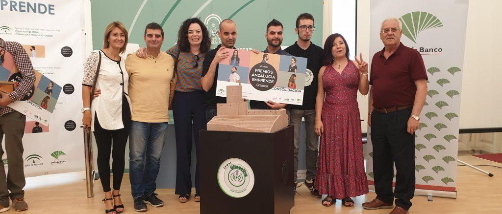 Tifloactiva proyecto ganador en los Premios Andalucia Emprende 2019 en Granada